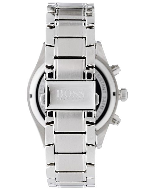 66a6b31d20128 ... BOSS Hugo Boss Men s Chronograph Grand Prix Stainless Steel Bracelet  Watch 44mm 1513478 ...