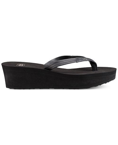 dfc72deaec35 UGG® Ruby Wedge Flip-Flop Sandals   Reviews - Sandals   Flip ...