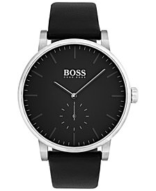 BOSS Men's Essence Black Leather Strap Watch 42mm 1513500