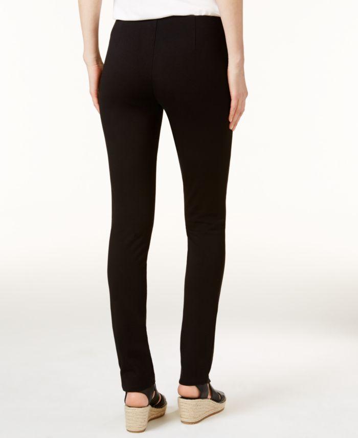 Eileen Fisher Ponte Pull-On Skinny Pants, Regular & Petite & Reviews - Pants & Capris - Women - Macy's