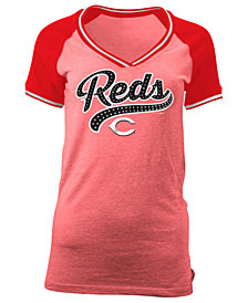 5th & Ocean Women's Cincinnati Reds Rhinestone Night T-Shirt