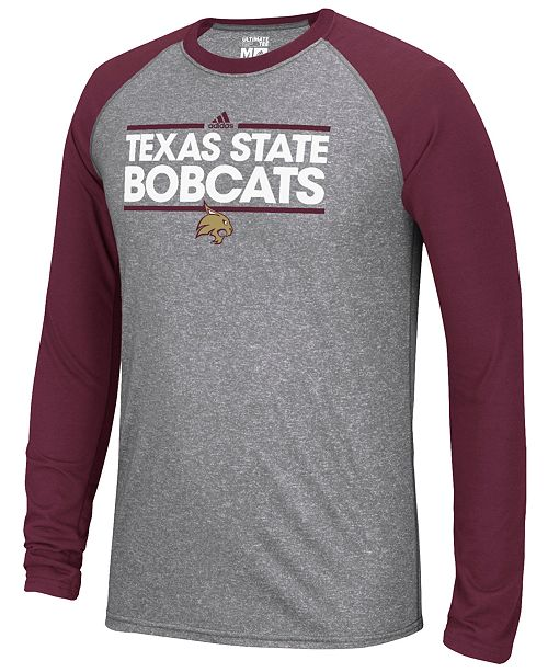 adidas Men s Texas State Bobcats Raglan Long Sleeve T-Shirt - Sports ... 88739c21cb3e