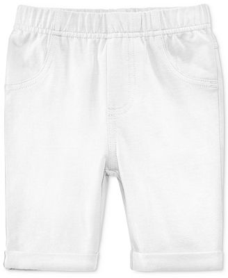 First Impressions Solid Bermuda Shorts, Baby Girls (0-24 months), Only at Macy's