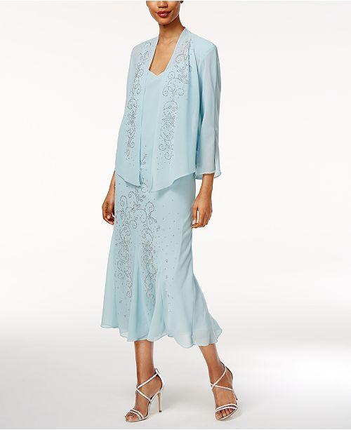 fdef48995539 ... R & M Richards R&M Richards Sleeveless Beaded V-Neck Dress and Jacket  ...