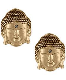 RACHEL Rachel Roy Gold-Tone Buddha Stud Earrings