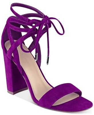 Marc Fisher Fatima Lace-Up Block-Heel Sandals