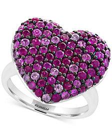 Splash by EFFY® Ruby Heart Ring (2-1/2 ct. t.w.) in Sterling Silver