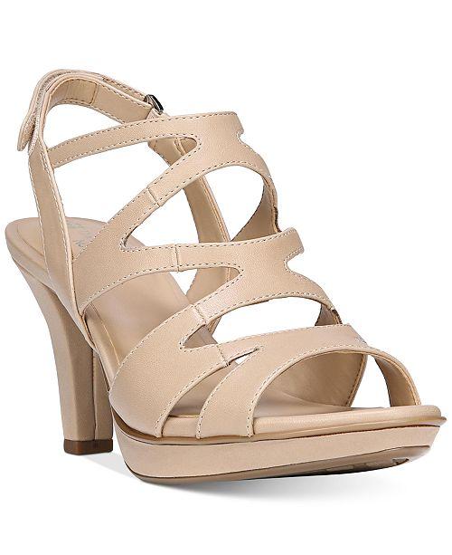 Naturalizer Pressley Sparkle Fabric Slingback Dress Sandals Fcf8Ey5