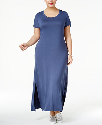Plus Size T Shirt Maxi Dress, Created For Macy's by Style & Co