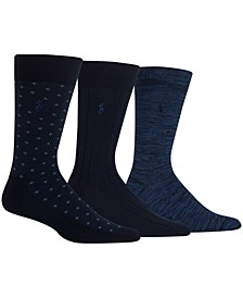 Men's Diamond Dot Dress Socks, 3 Pack