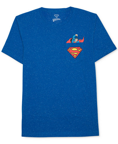 Hybrid Apparel Men's Superman Graphic-Print Cotton T-Shirt