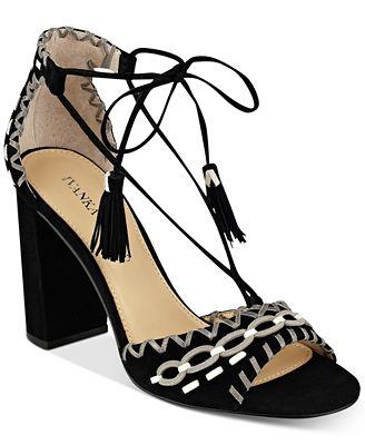 Ivanka Trump Karita Lace-Up Block-Heel Sandals