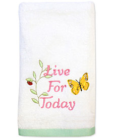 "Dena Live for Today 11"" x 18"" Set of Two Fingertip Towels"