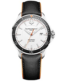 Men's Swiss Automatic Clifton Club Black Leather Strap Watch 42mm M0A10337