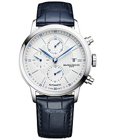 Men's Swiss Automatic Classima Blue Alligator Leather Strap Watch 42mm M0A10330