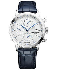 Baume & Mercier Men's Swiss Automatic Classima Blue Alligator Leather Strap Watch 42mm M0A10330