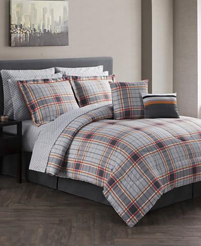 Jasper Reversible 12-Pc. Gray Comforter Sets