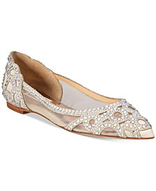 Gigi Pointed-Toe Evening Flats