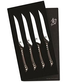 Shun Shima 4-Pc. Boxed Steak Knife Set