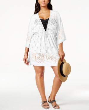 Dotti Plus Size Laser-Cutout Cover-Up Women's Swimsuit plus size,  plus size fashion plus size appare