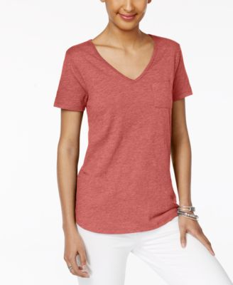 Image of Style & Co Pocketed T-Shirt, Only at Macy's