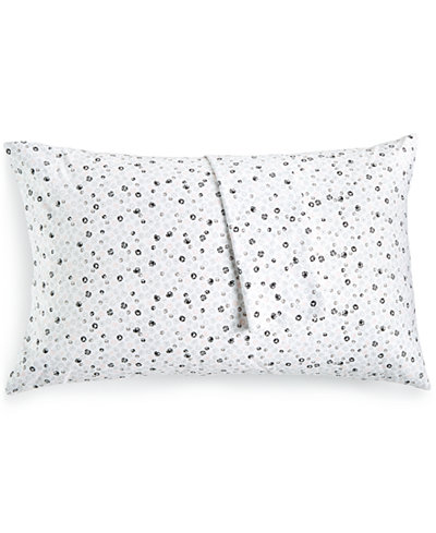 BCBGeneration Cotton Percale 200 Thread Count Ditsy Floral Pair of Standard Pillowcases