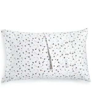 BCBGeneration Cotton Percale 200 Thread Count Ditsy Floral Pair of Standard Pillowcases Bedding