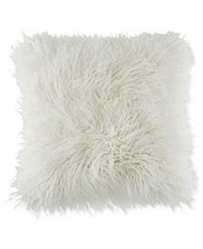 """Faux-Fur Mongolian 18"""" Square Decorative Pillow"""