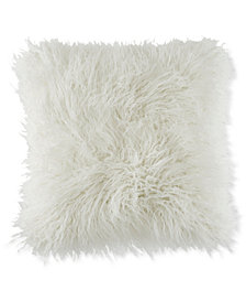 "BCBGeneration Faux-Fur Mongolian 18"" Square Decorative Pillow"