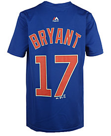 Majestic Kris Bryant Chicago Cubs Poly Player T-Shirt, Big Boys (8-20)