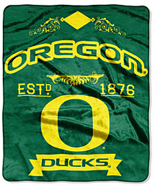Northwest Company Oregon Ducks Raschel Rebel Throw Blanket
