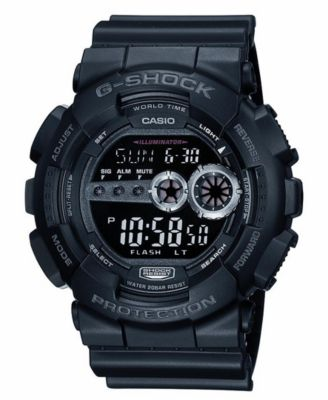 Image of G-Shock Men's XL Digital Black Resin Strap Watch GD100-1B