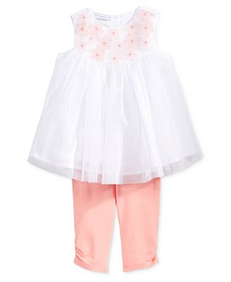 First Impressions 2-Pc. Floral Tunic & Ruched Leggings Set, Baby Girls (0-24 months), Created for Macy's