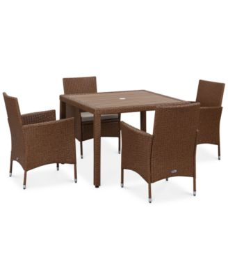Elsen Outdoor 5 Pc. Dining Set (Dining Table U0026 4 Chairs),