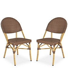 Louisa Set of 2 Indoor/Outdoor Wicker Side Chairs