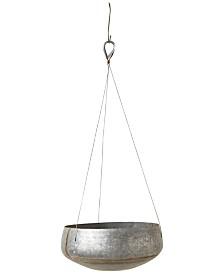 Galvanized Iron Round Hanging Planter