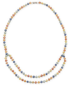 Multi-Sapphire (40 ct. t.w.) Double Row Collar Necklace in Sterling Silver, Created for Macy's