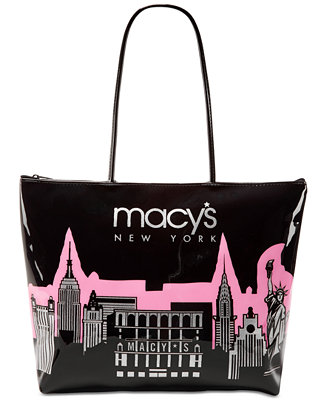 Macy S City Glitter Zip Tote Created For Handbags Accessories