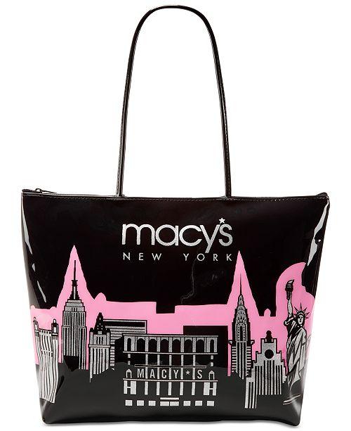 Dani Accessories Macy's City Glitter Zip Tote, Created for Macy's