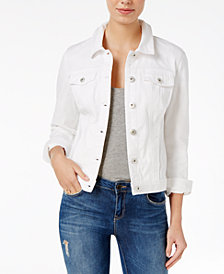 Maison Jules Bright White Wash Denim Jacket, Created for Macy's