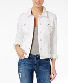 Maison Jules Bright White Wash Denim Jacket, Created for Macy's