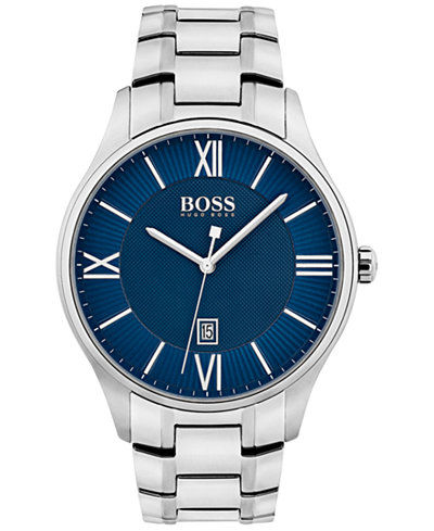 BOSS Hugo Boss Men's Governor Stainless Steel Bracelet Watch 44mm 1513487