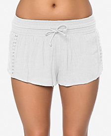O'Neill Juniors' Elise Crochet-Trim Shorts