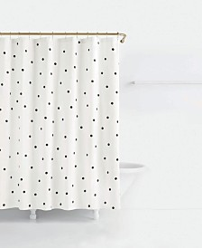 kate spade new york Deco Cotton Dot-Print Shower Curtain