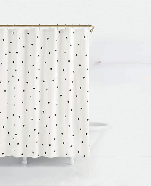 Kate Spade New York Deco Cotton Dot Print Shower Curtain