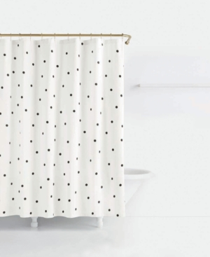 Image of kate spade new york Deco Cotton Dot-Print Shower Curtain Bedding