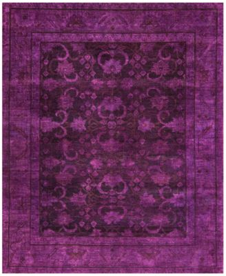 Macyu0027s Fine Rug Gallery One Of A Kind Overdyed Zeigler K571140 Purple 8u0027