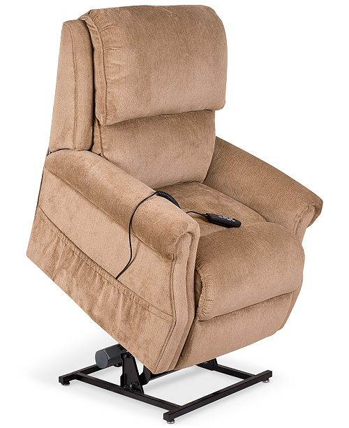 Furniture Raeghan Fabric Power Lift Reclining Chair - Furniture - Macy\'s