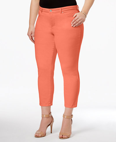 Charter Club Plus Size Bristol Tummy-Control Capri Jeans, Only at ...