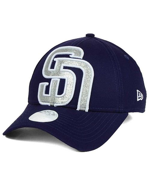 New Era Women's San Diego Padres Glitter Glam 9FORTY Strapback Cap